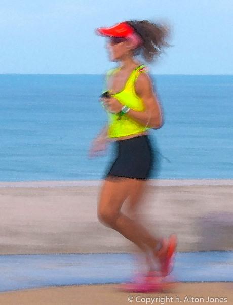 Runner Girl Water Color